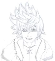 Smile roxas by TopHat-And-Tentacles