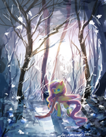 MLP: Fluttershy Winter by AquaGalaxy