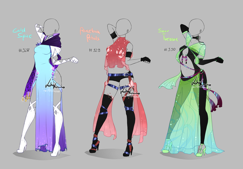 Outfit design - 328 - 330  - closed by LotusLumino