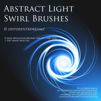 Abstract Light Swirl Brushes by differentxdreamz