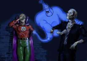 TLIID Robin Williams Tribute Alan Scott and Genie by Nick-Perks