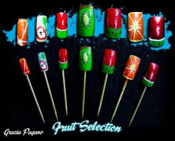 Fruit selection nails by graziapagano