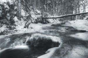 Frozen Stream by IraMustyPhotography