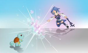 Aqua vs. Squirtle by Videoboysayscube