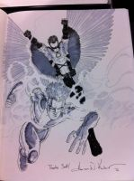 Teen Titans con sketch Wizard World Philly '12 by AaronKuder