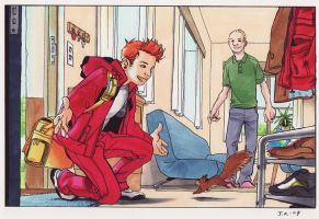 Spirou's back home, color by Jemppu