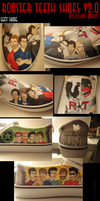 Rooster Teeth Custom Shoes v2.0 by MsJillyJelly