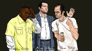 GTA V Three guys virtual by TinaPanther