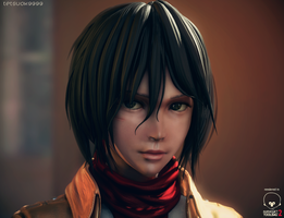 Mikasa Ackerman (Real-time rendering test) by tetsuok9999