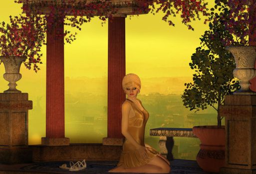 Repose-in-the-Golden-Hour by AetherDreams