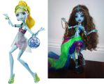 Psycha Delia before and after ooak monster high by amanda04