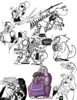 Undertale Doodles by SupaCrikeyDave