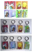 Unique two-sided keychains by eamilia