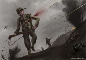 The Pacific-John Basilone by Zando-Zennek