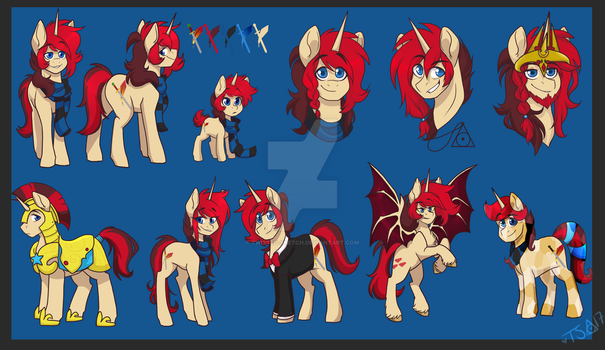 Reference Sheet - Vermillion Prose by Twisted-Sketch