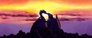 A Sunset Kiss by maggock