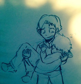 Sloppy doodle: Carry Sir to bed. by CopperFirecracker