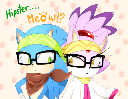 Hipster.........Meow!? by Unichrome-uni