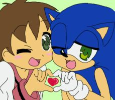 Me-Sonic Lucky Star style by AishaPachia