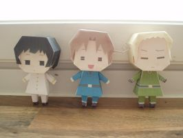 APH papercraft: Axis Powers by Demmi-chan