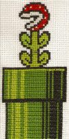 Pirahna Plant Cross Stitch by magentafreak