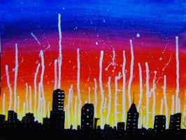 City Is On Fire. by Darxen