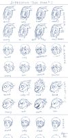 Alien facial expression tests: by Jesseth