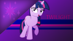 Simple Twilight sparkle wallpaper by rhubarb-leaf