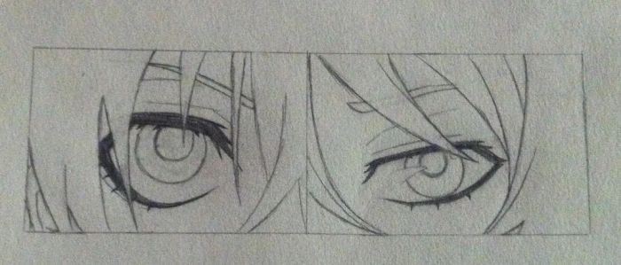 Ciel/Alois Eye Bookmark (not colored) by gothyghosty