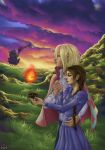 Howls moving castle in sunset by Wictorian-Art