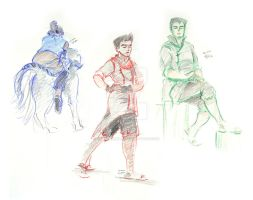 Team Korra - Life Drawing Style by zutaraxmylove