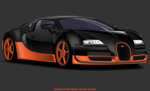 Bugatti Veyron Super-Sport by johnnyinternets