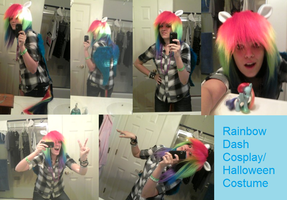 Rainbow Dash costume c: by AJ-Shep