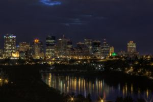 Edmonton Skyline at Night 1 by schon
