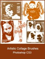 Artistic Collage Brushes by KingaBritschgi