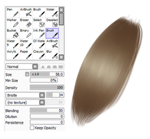 Hair brush Settings by KATATATT