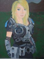 Gears of War self-portrait by Ladybamelot
