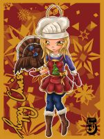 LoL Advent 2014 - Day 5 - Quinn and Valor by enchanted-enigma