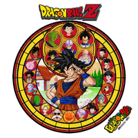 Dragon Ball Z Stained Glass - Goku by GT4tube