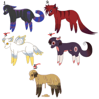 -5 POINT ADOPTS- Strange hound by M3LANCH0LY-AD0PTS