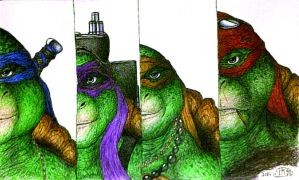 Ninja turtles 2014 half mugs completed by NinjaTurtleIggy