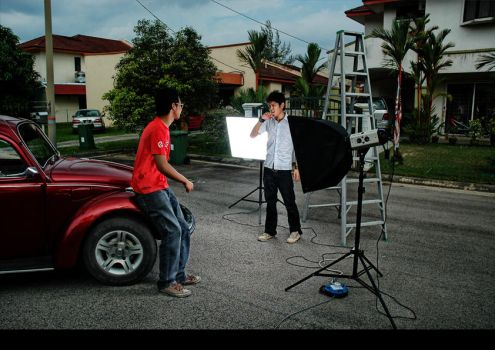 behind the scene by arizaNur