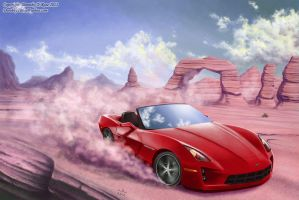 2011 Chevrolet Corvette Roadster by Dorothy-T-Rose