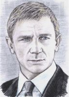 Daniel Craig mini-portrait by whu-wei