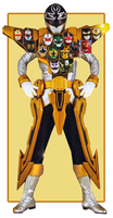 Gokai silver gold mode edited by goldranger91