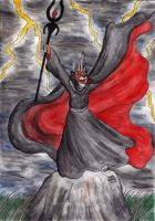Lord Zeyphr Summoning a Storm by Kiljunator