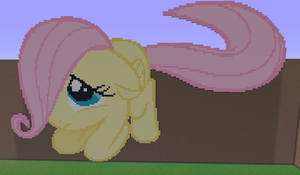 Fluttershy Filly Minecraft by annary
