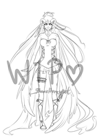 Stern~Wanderer: human form - WIP by BeesHoneypot