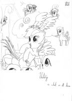 MLP Victory Sketch (pen) by PnFink