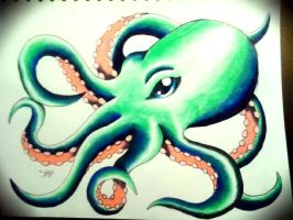 Octopus tattoo design 3 by jessicore666